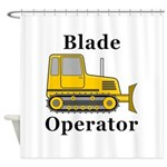 Blade Operator Shower Curtain