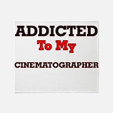 Addicted to my Cinematographer Throw Blanket