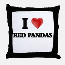 I love Red Pandas Throw Pillow