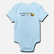 Track Hoe My Other Ride Infant Bodysuit