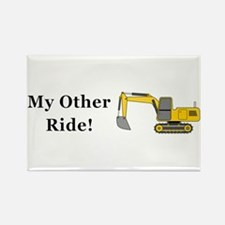 Track Hoe My Other Ride Rectangle Magnet