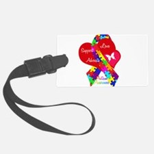 Autism Ribbon Luggage Tag