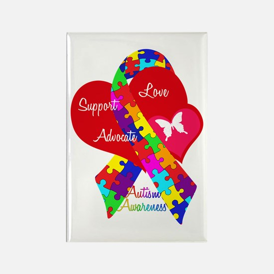 Autism Ribbon Rectangle Magnet