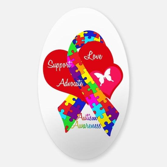 Autism Ribbon Sticker (Oval)