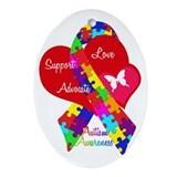 Autism Oval Ornaments