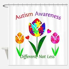 Autism Awareness Tulip Shower Curtain
