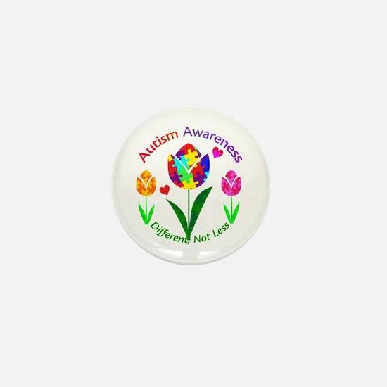 Autism Awareness Tulip Mini Button
