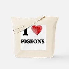 I love Pigeons Tote Bag