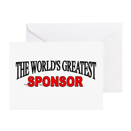 """""""The World's Greatest Sponsor"""" Greeting Cards (Pk"""