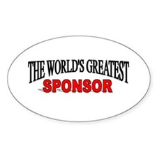 """The World's Greatest Sponsor"" Oval Decal"