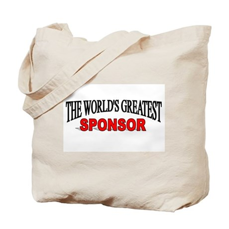 """The World's Greatest Sponsor"" Tote Bag"