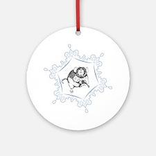 Dumbo Snowflake Ornament (Round)