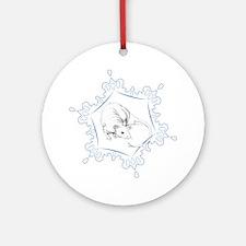 Hairless Snowflake Ornament (Round)