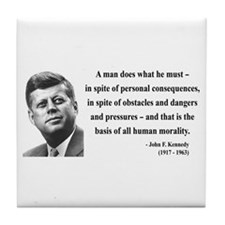 John F. Kennedy 10 Tile Coaster