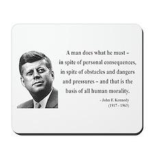 John F. Kennedy 10 Mousepad