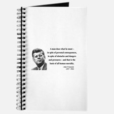 John F. Kennedy 10 Journal