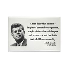 John F. Kennedy 10 Rectangle Magnet