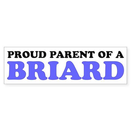 Proud Parent of a Briard Sticker