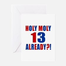 13 Holy Moly Birthday De Greeting Cards (Pk of 10)