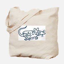 Rats Rule Outline Tote Bag