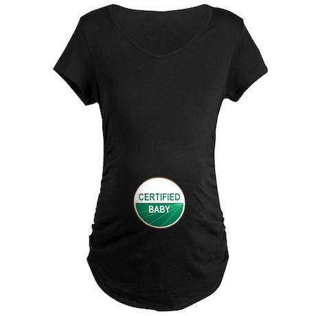 CERTIFIED BABY Maternity Dark T-Shirt