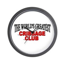 """The World's Greatest Cribbage Club"" Wall Clock"