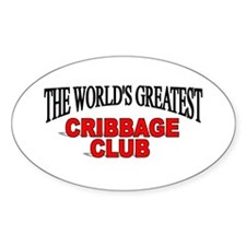 """""""The World's Greatest Cribbage Club"""" Decal"""