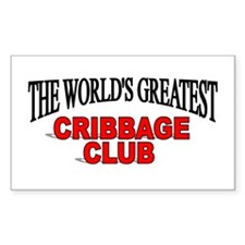"""The World's Greatest Cribbage Club"" Decal"