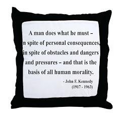 John F. Kennedy 10 Throw Pillow