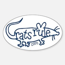 Rats Rule Outline Oval Decal