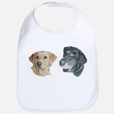 Black and Yellow Labs Bib
