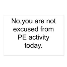 Phys ed teacher Postcards (Package of 8)