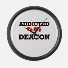 Addicted to my Deacon Large Wall Clock