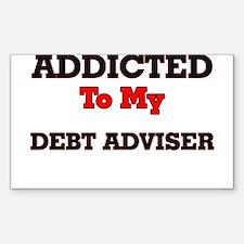 Addicted to my Debt Adviser Decal