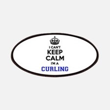 CURLING I cant keeep calm Patch