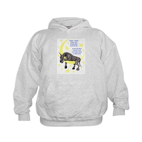 Great Dane Black Twinkle Kids Hoodie