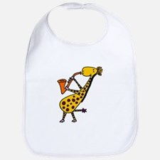 Giraffe Playing Saxophone Bib