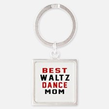 Waltz Dance Mom Designs Square Keychain
