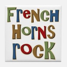 French Horns Rock Lover Player Tile Coaster