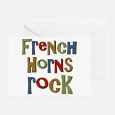 French Horns Rock Lover Player Greeting Card