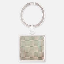Unique Satin Square Keychain