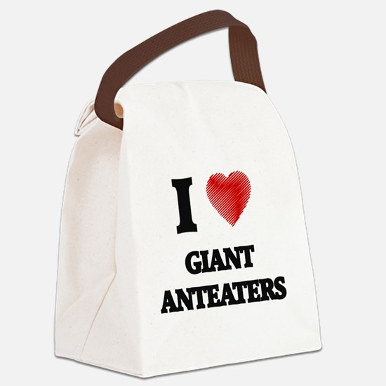 I love Giant Anteaters Canvas Lunch Bag