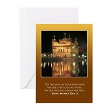 Golden Temple Greeting Cards (Pk of 10) with Quote