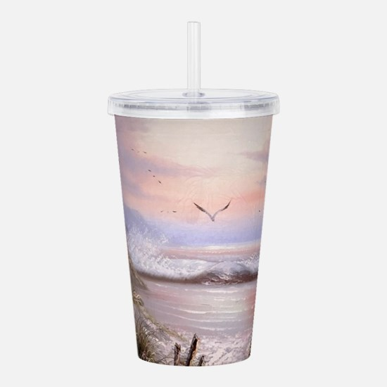 Funny Beautiful sky Acrylic Double-wall Tumbler