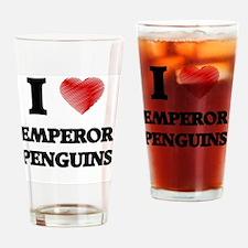 I love Emperor Penguins Drinking Glass