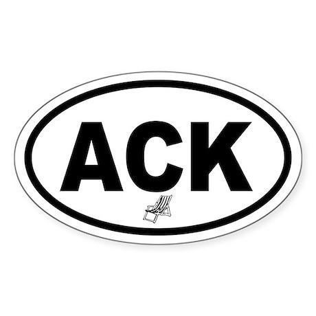 ACK Nantucket Beach Chair Oval Sticker