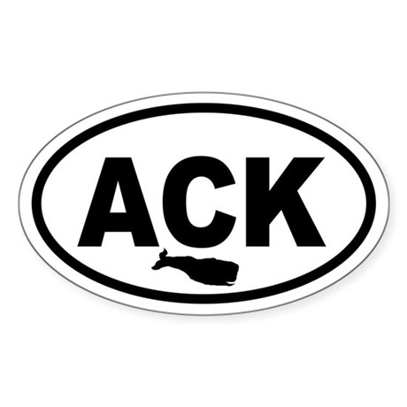 ACK Nantucket Whale Oval Sticker