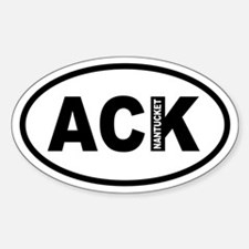 ACK Nantucket Oval Decal