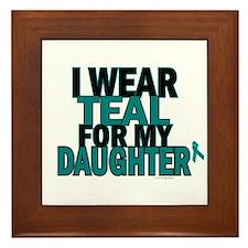 I Wear Teal For My Daughter 5 Framed Tile