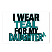 I Wear Teal For My Daughter 5 Postcards (Package o